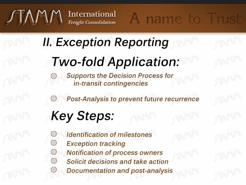 II-Excemption-Reporting